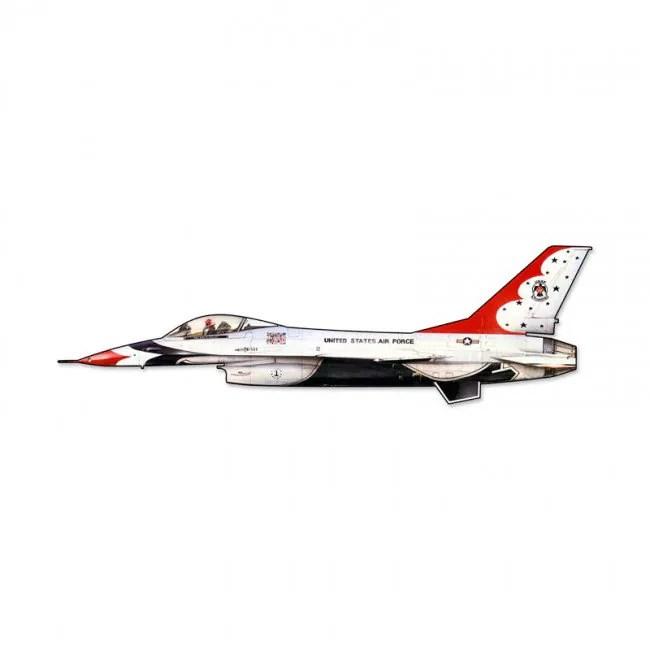 Fighting Falcon Fighter Plane Custom Shape Metal Sign 24 x