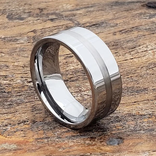 Herren Ehering Wolfram Herren Ring Silberring Inlay Ring  Etsy
