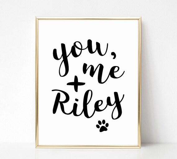 You Me and the Dog Print