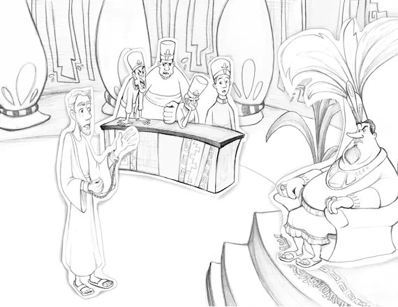 Book of Mormon Abinadi Coloring page Teaching aid Primary