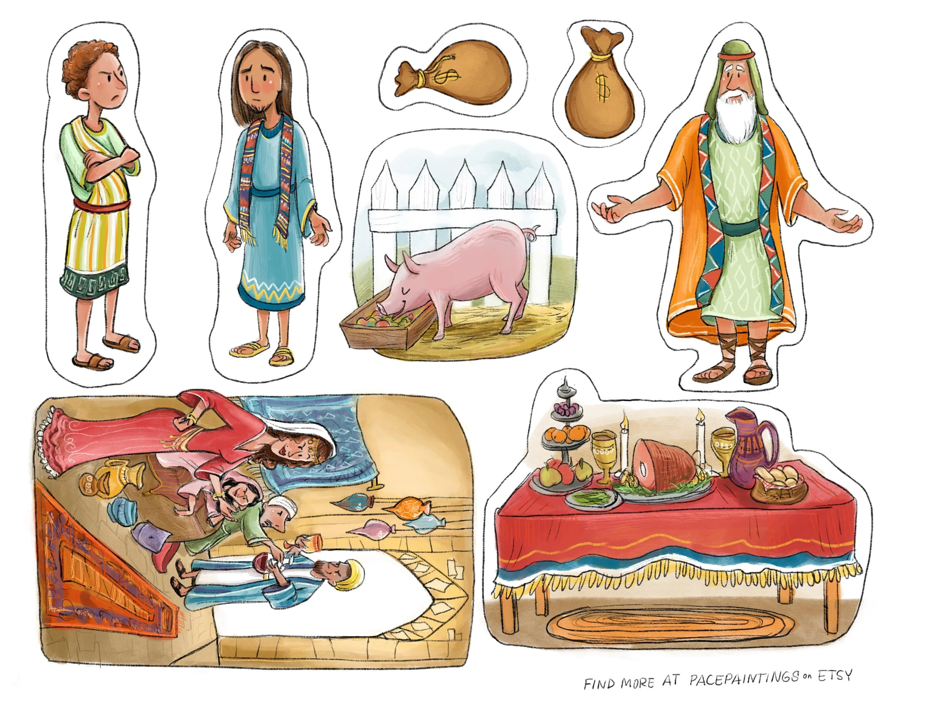 Parable Of The Prodigal Son Bible Story Teaching Tool Lds