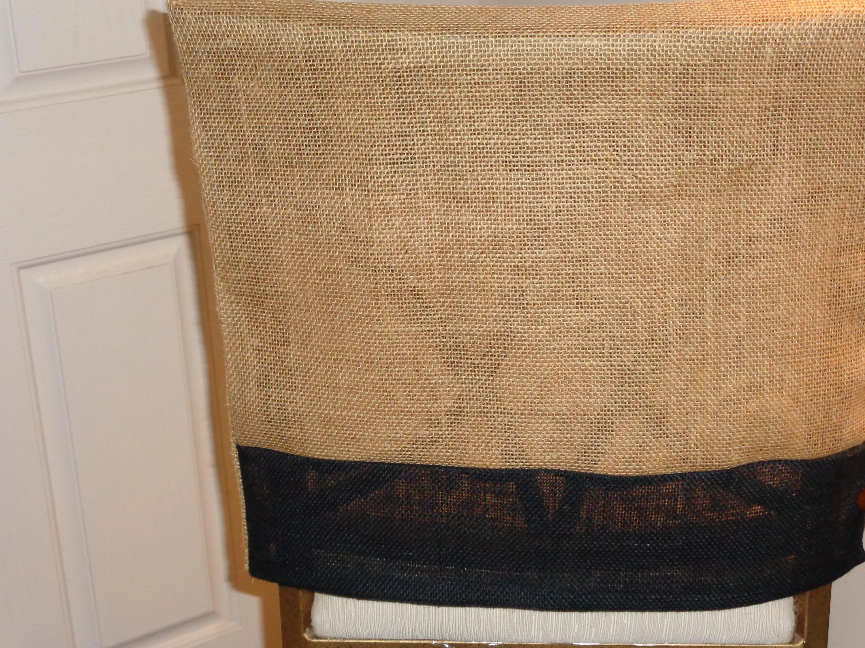 burlap dining chair covers round table for 6 chairs etsy back cover two tone natural black bar stools special occasions pub weddings rustic dinners
