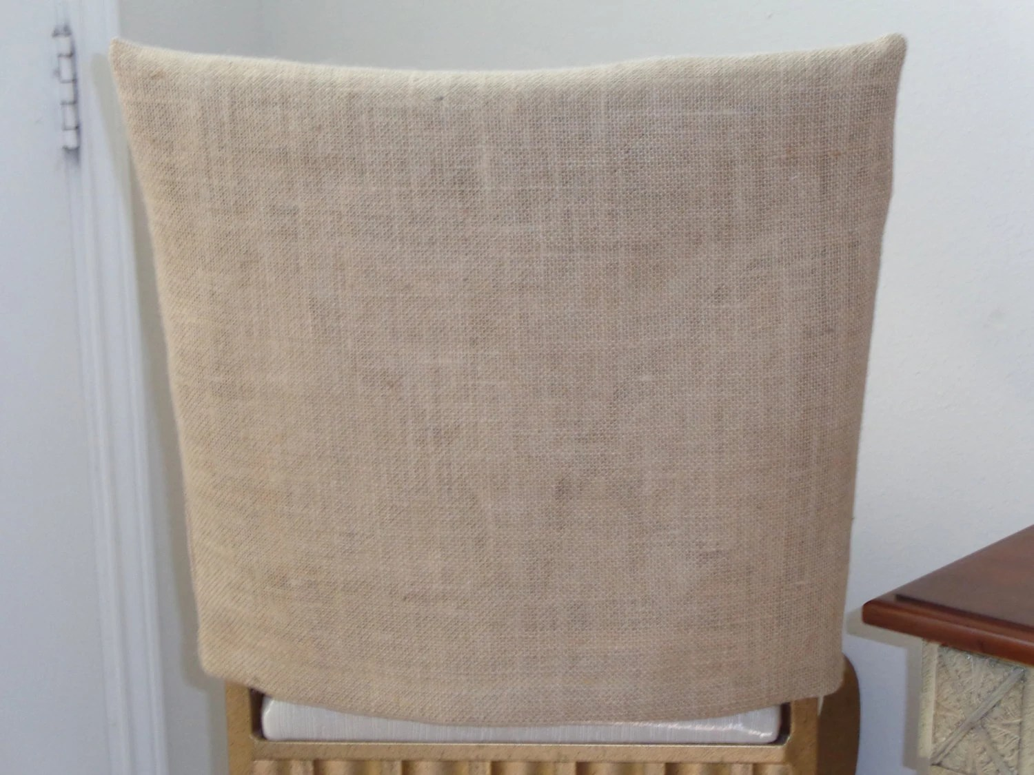dining chair seat covers etsy oversized recliner back burlap jute rustic weddings parties country kitchens custom sized chairs bar stools