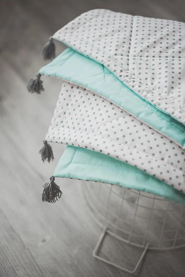 Katoen baby deken kwast deken voor peuter mint kwekerij  Etsy