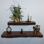 Walnut Floating Shelves Live Edge Shelves Rustic Floating