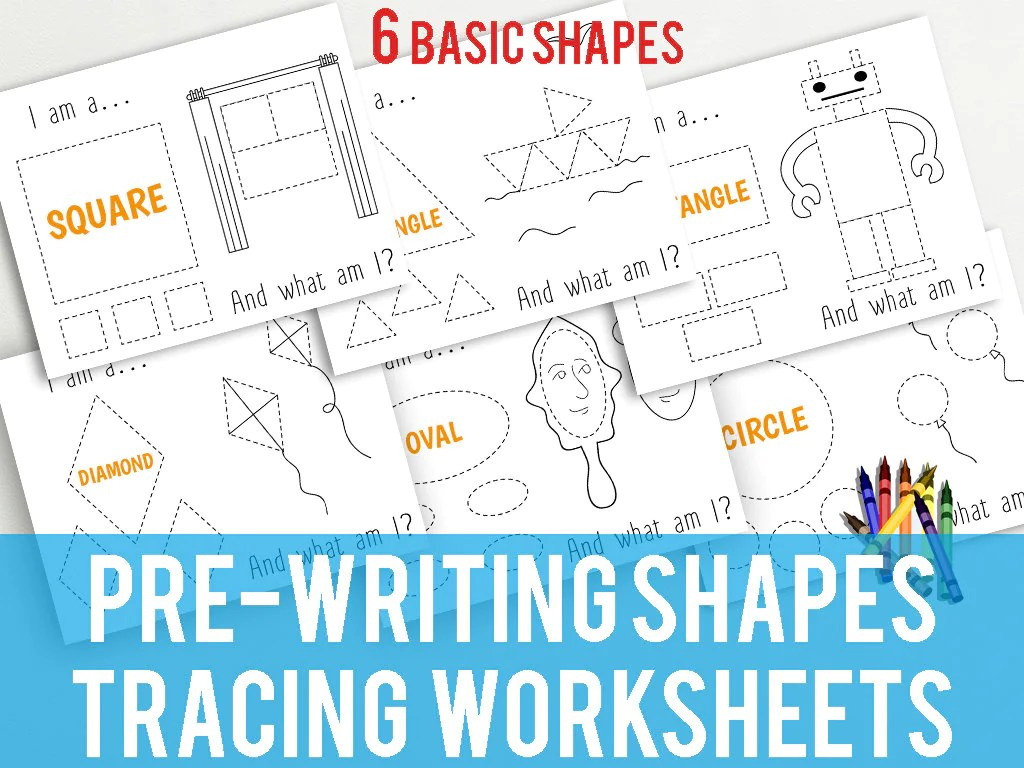 Printable Shapes Tracing Worksheets For Early Writing