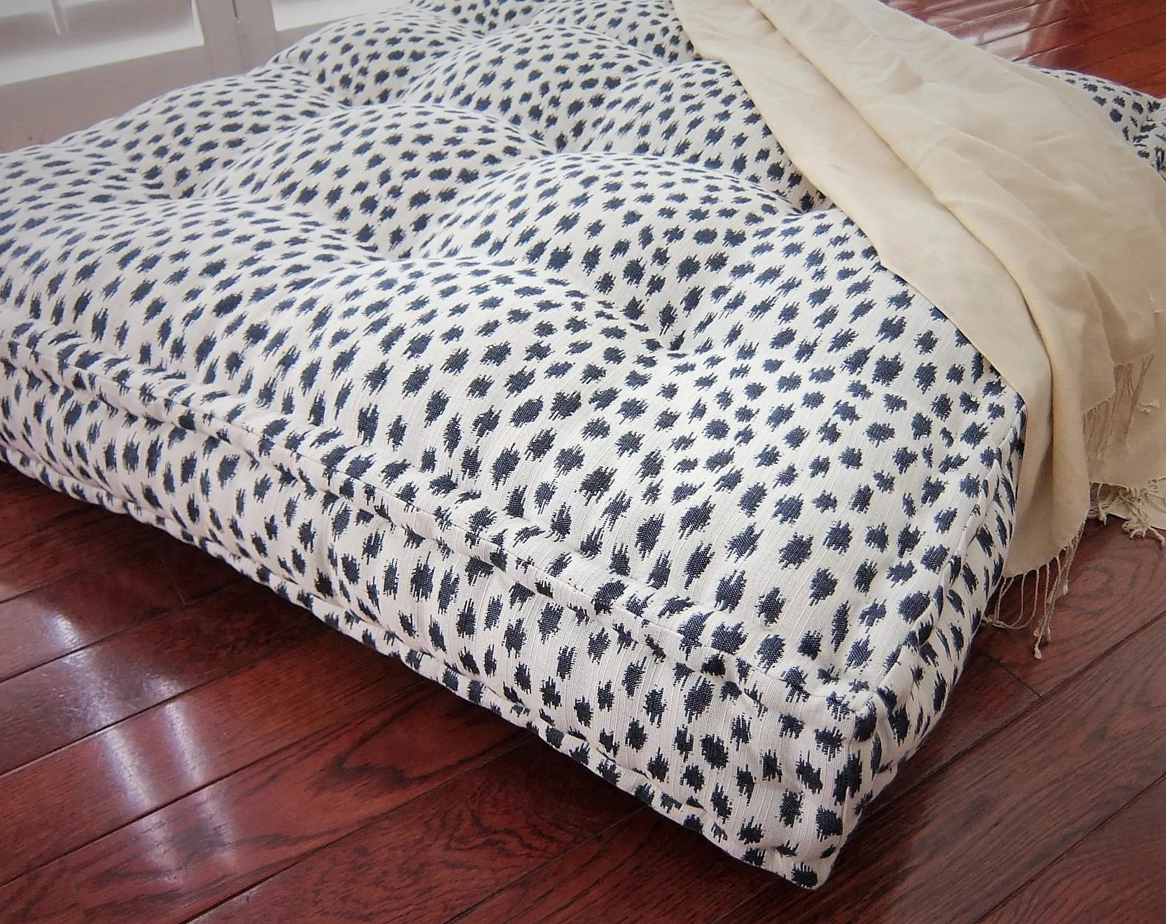 oversized floor cushion with french mattress quilting large floor pillow stuffed 36x36x6 floor pouf floor seating custom sizes available