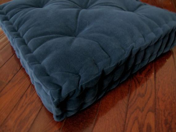 Velvet Tufted Floor Cushions  velvet floor pillow navy blue