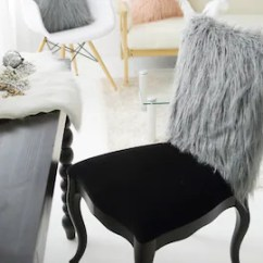 Fur Chair Cover In Exercises For Seniors Faux Etsy Grey Slipcover 40cm X 50cm