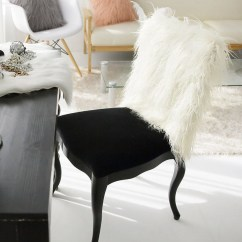Fur Chair Cover Massage Reviews Ivory Faux Slipcover 40cm X 50cm