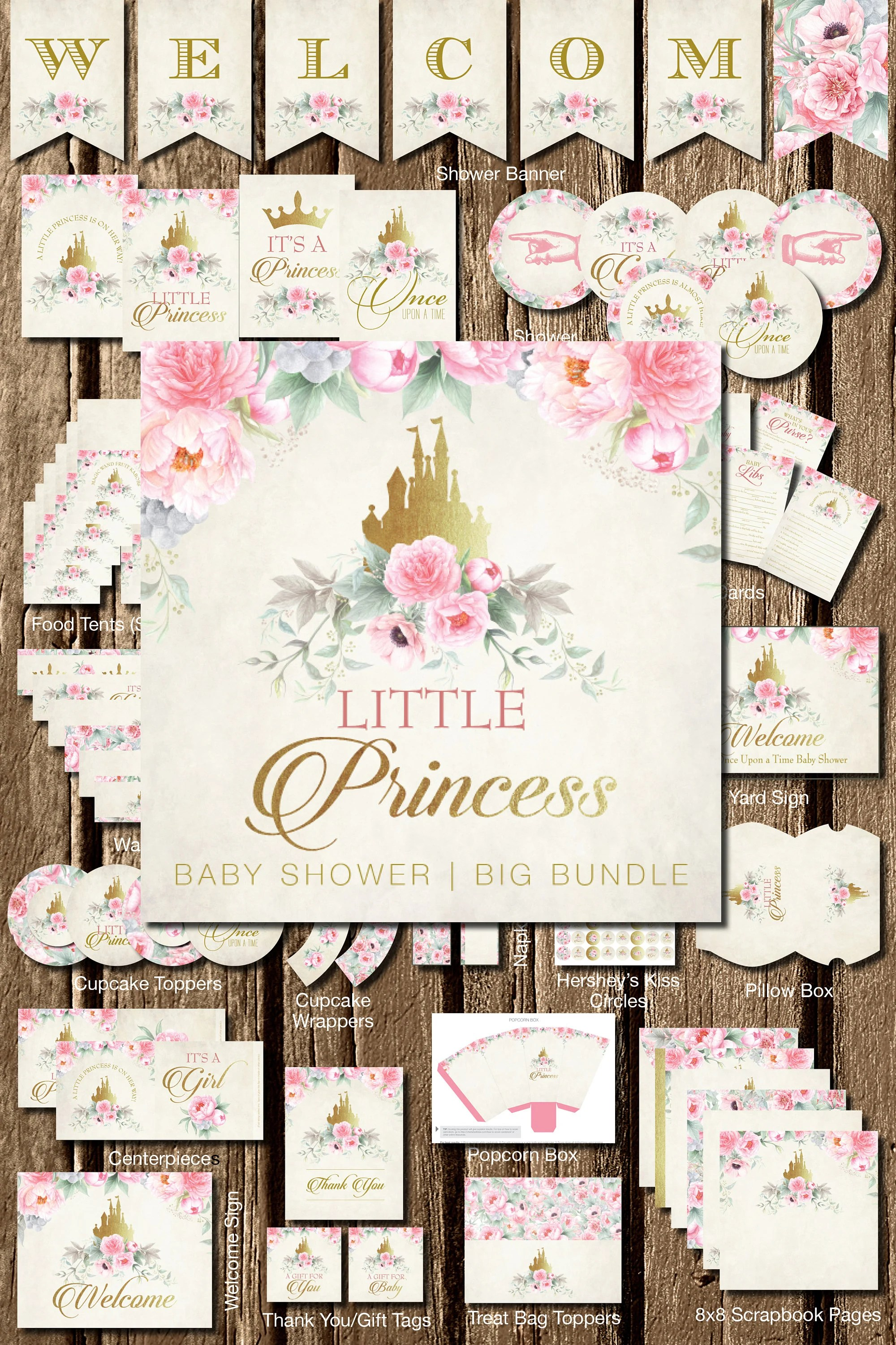 Princess Printable Shower Little Princess Printables