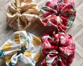 Vintage summer scrunchies