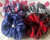 Flannel scrunchies