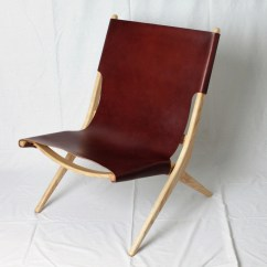 Leather Sling Chairs Denim Chair Pockets Accent Etsy 50