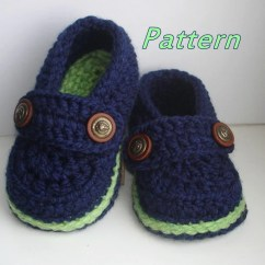 Crochet Baby Booties Diagram Ez Go Textron Battery Wiring Easy Pattern Loafers Etsy