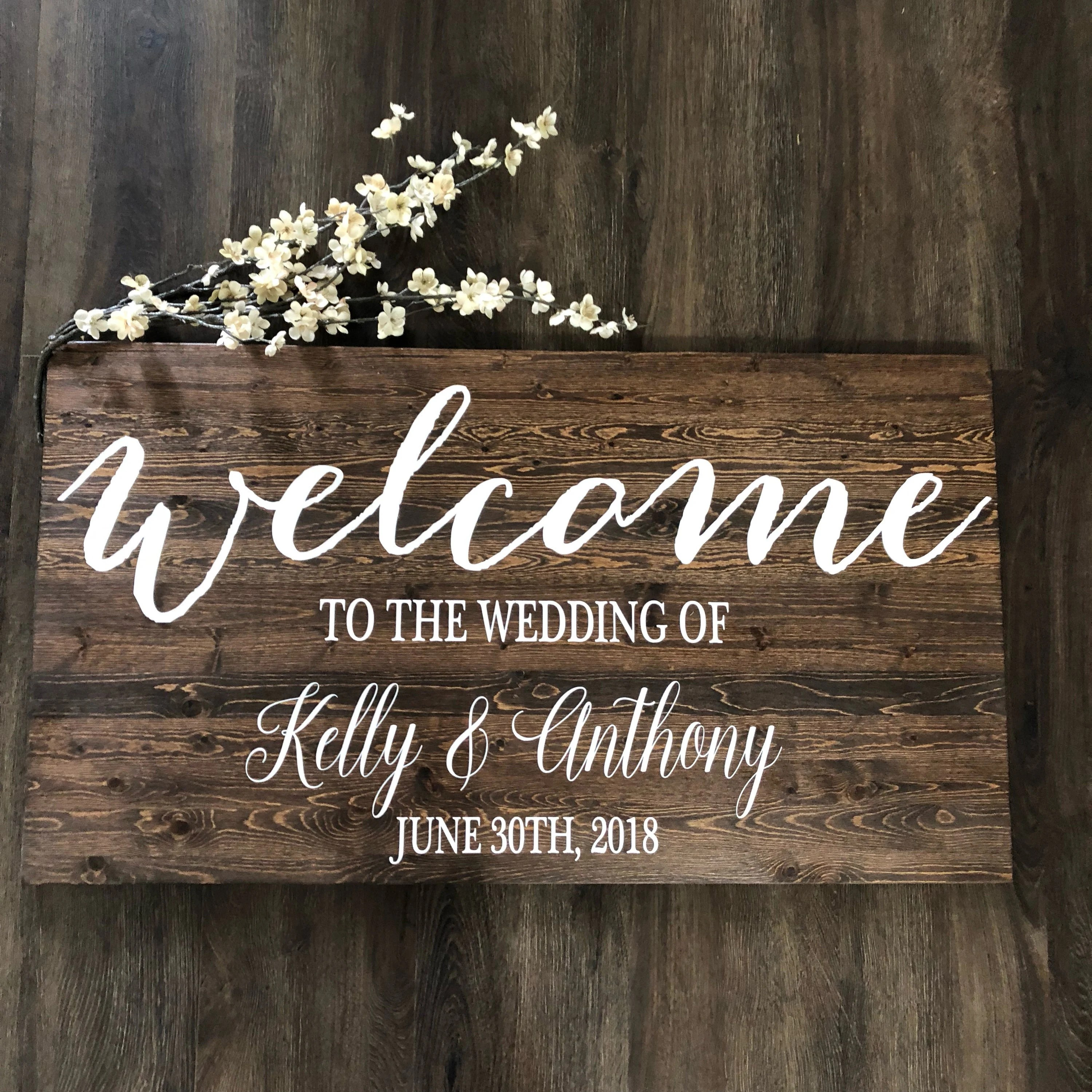 wedding welcome sign rustic