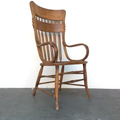 Vintage Wooden Chairs Chair Covers Hire Uk Antique Oak High Back Armchair Hand Carved Etsy Image 0
