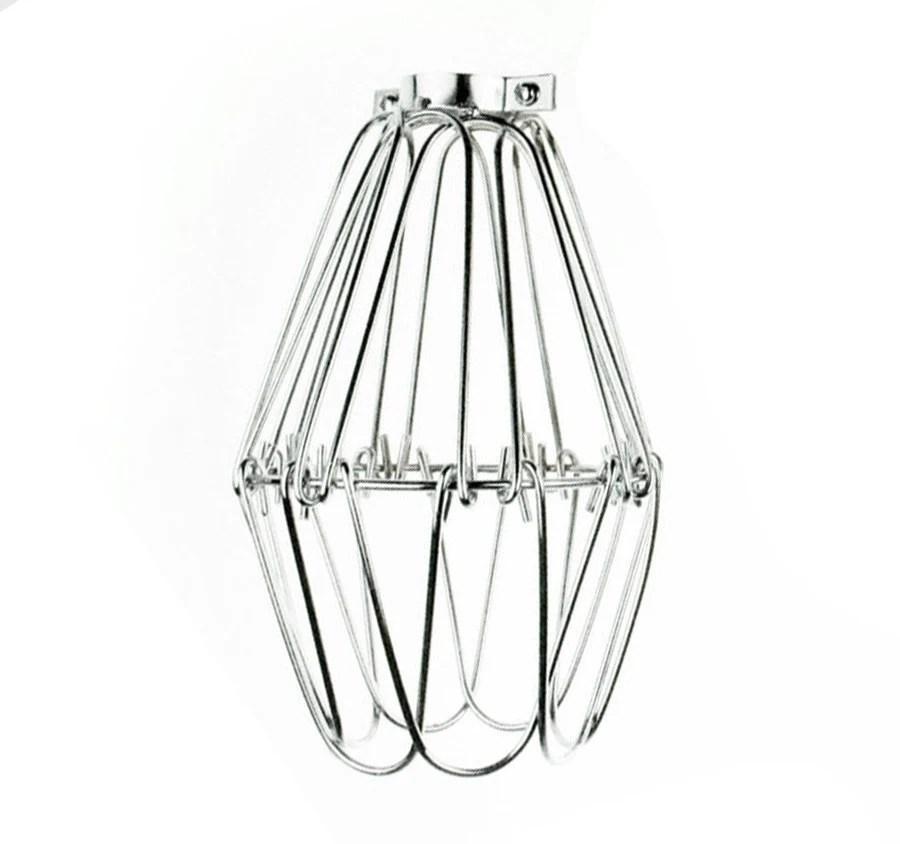 Vintage Industrial Pendant Wire Cage Flower for Desk Side