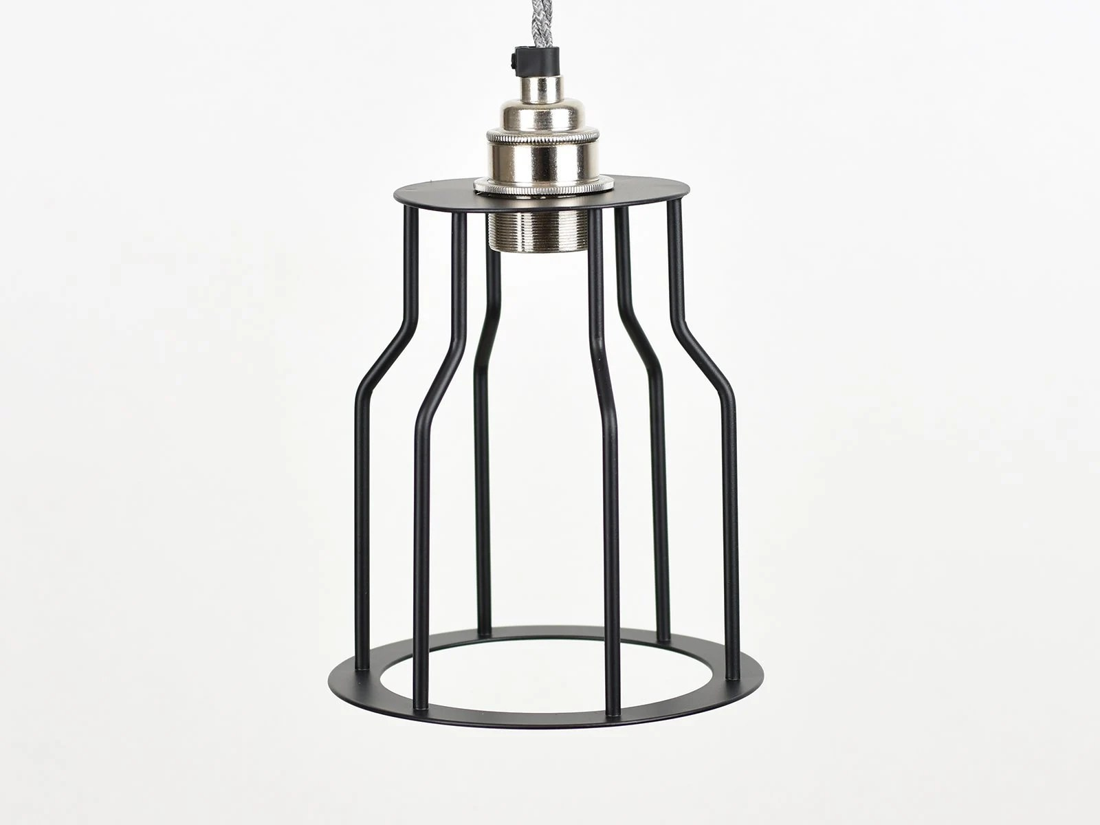 Vintage Industrial Pendant Wire bottleneck Cage shade for