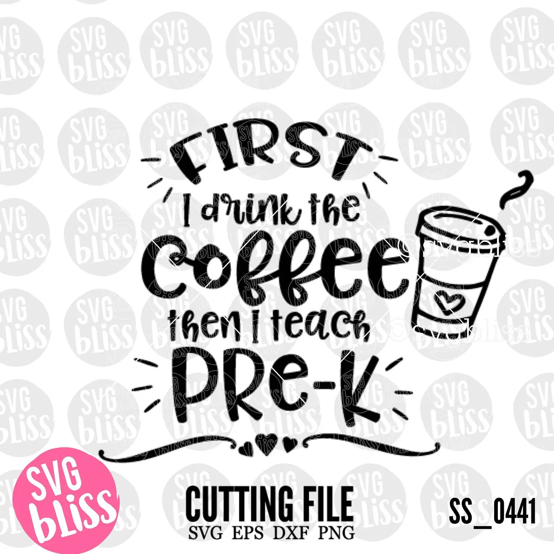 Preschool Teacher SVG DXF Cutting File Pre-K Early