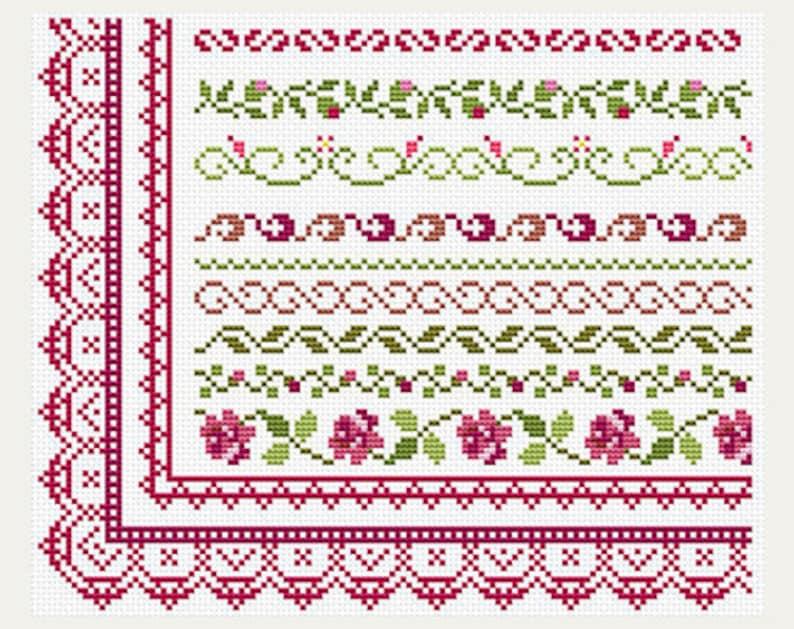 cross stitch patterns border
