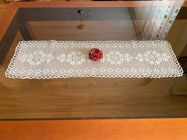 doily crochet large table runner cotton