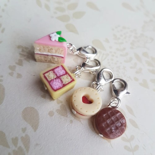 Cake stitch markers for knitting novelty stitch markers image 0