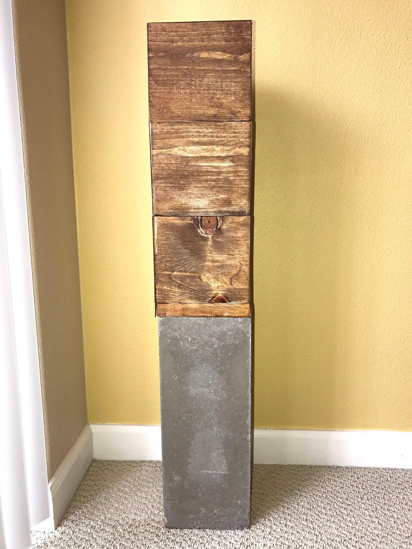 Holz Betonpfeiler Stehen | Etsy
