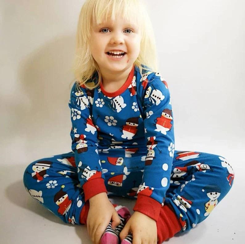 organic christmas pyjamas baby