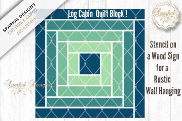 quilt cabin log barn block svg file cutting dxf etsy svgs