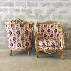 Chair Design Antique Used Covers Vintage Chairs Sittin Pretty By Myleen Baroque 2 Available French Bergere Red Wine Burgundy New Uphostery Interior