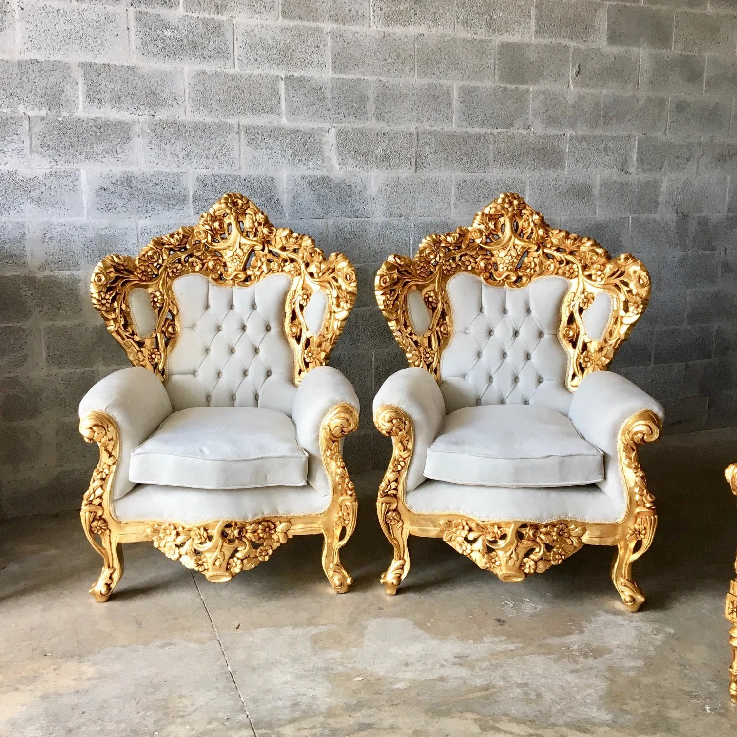 velvet tufted chair massage stand for baroque throne rococo french sofa etsy image 0
