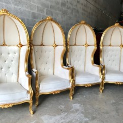 French Canopy Chair Reception Room Chairs Balloon Throne For All 4 High Back Etsy