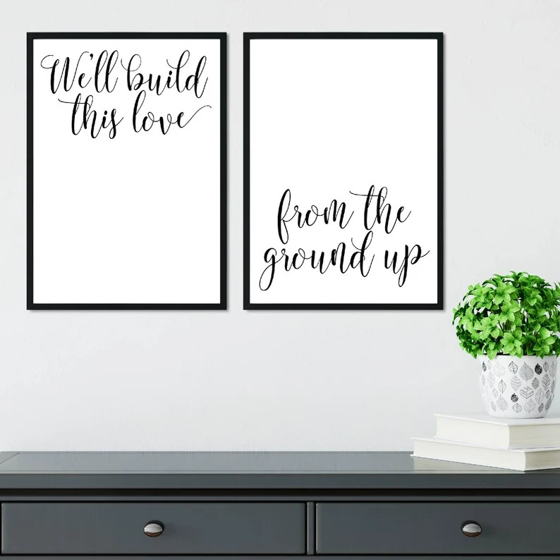 Download We'll Build This Love From The Ground Up Home Sign Wall | Etsy