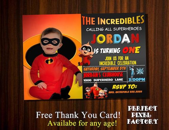 the incredibles incredibles invitaiton