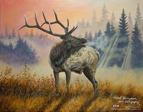 Untamed Defender Elk Art Father' Day Dad