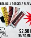 Sports Ball Popsicle Sleeve Frozen Yogurt Holder Sleeve Ice Etsy