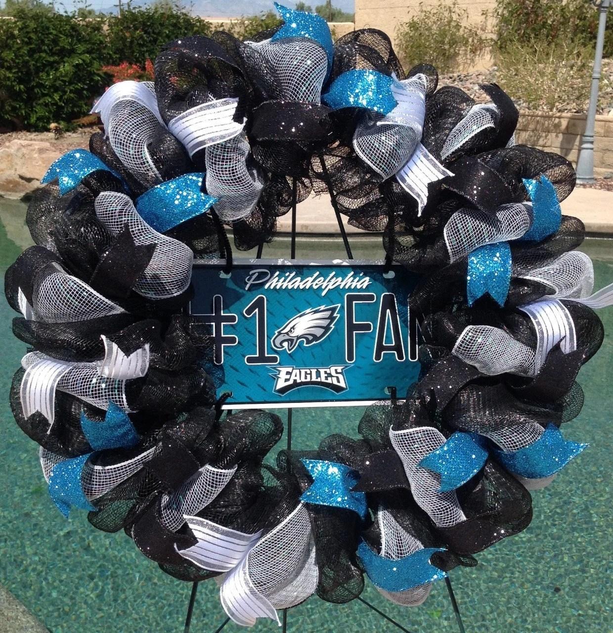 Philadelphia Eagles Wreath Eagles Deco Mesh Wreath Eagles