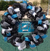 Philadelphia Eagles Wreath Eagles Deco Mesh Wreath Eagles