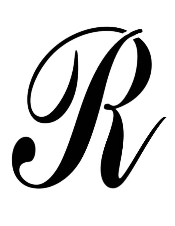 Large Big Script Cursive Letter R Custom Stencil FAST FREE