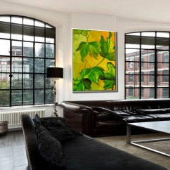 Paintings For Living Room Interior Design Gallery Wall Art Painting On Etsy Oil Canvas Nature Leaf Original Decor Leaves