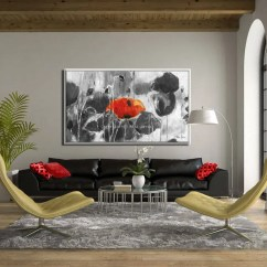Large Canvas Art For Living Room How To Furnish A Long Thin Flowers Etsy Image 0