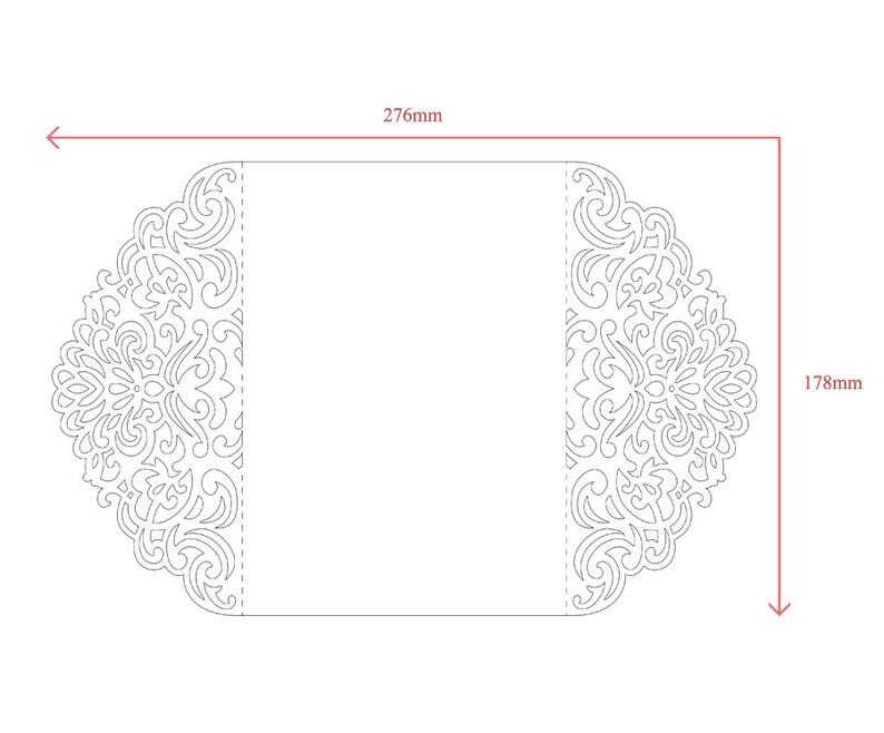 Ornamental 5x7'' Gate-fold Wedding Invitation Card