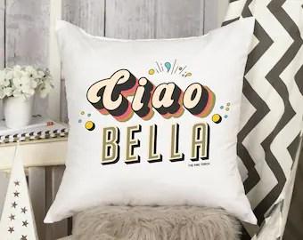 ciao bella pillow etsy