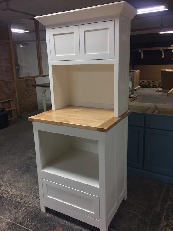 item 158 microwave cabinet hutch pantry kitchen island