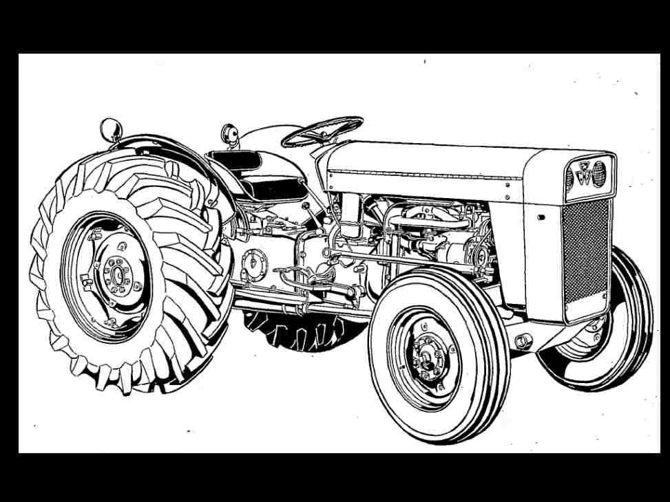 Massey Ferguson TO-35 MF 202 204 Tractor Parts Manual Gas