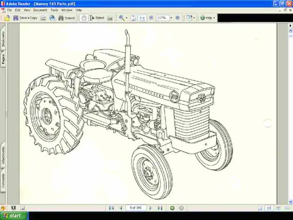 massey ferguson 240 parts diagram shear and moment problems solutions 165 tractor manual 390pg of exploded etsy image 0