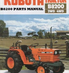 kubota b8200 dp hst b 8200 tractor parts manuals 390pgs with image 0  [ 794 x 1047 Pixel ]