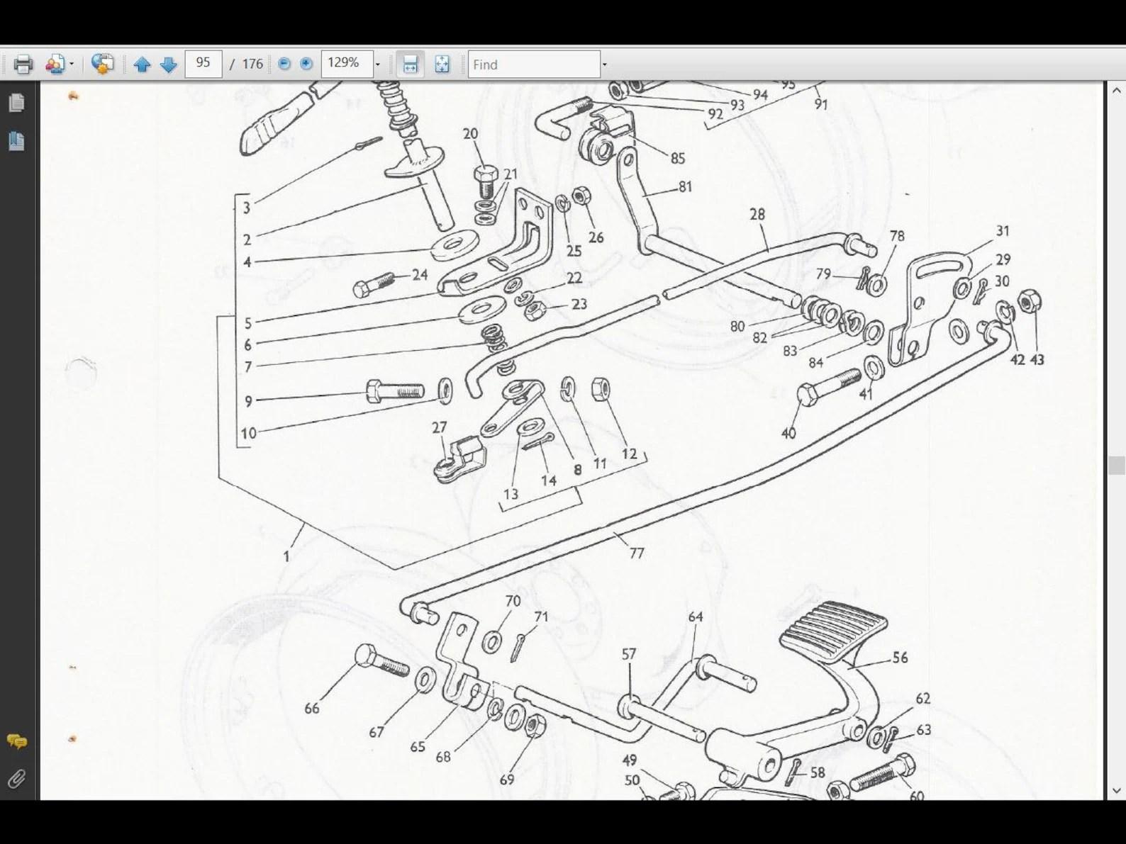 MASSEY FERGUSON MF135 Parts Manual 160pg with MF 135