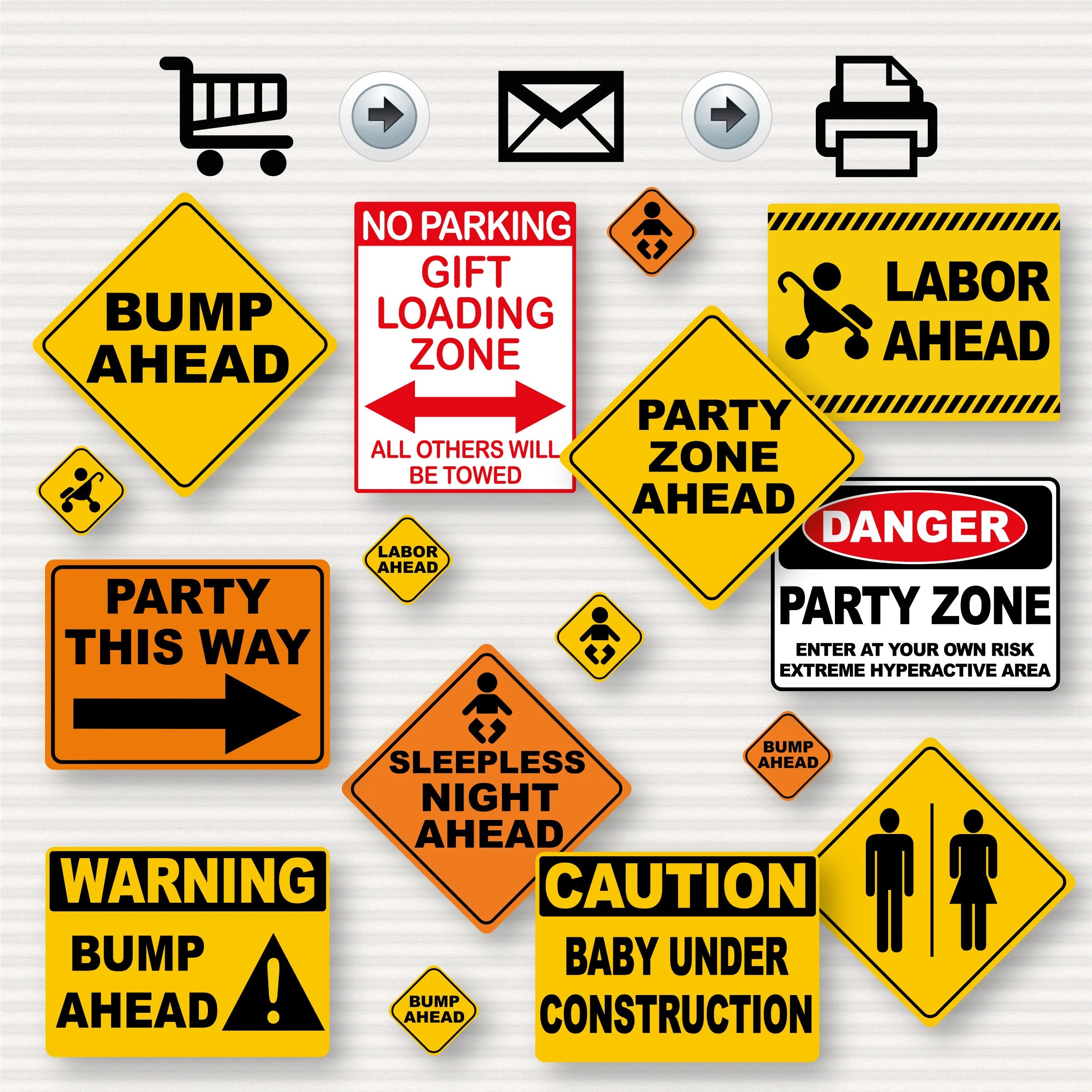 Construction Party Baby Shower Printable Signs